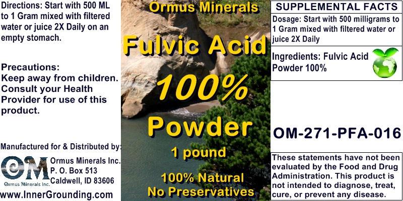 Fulvic Acid Minerals - Ormus Minerals - FULVIC ACID