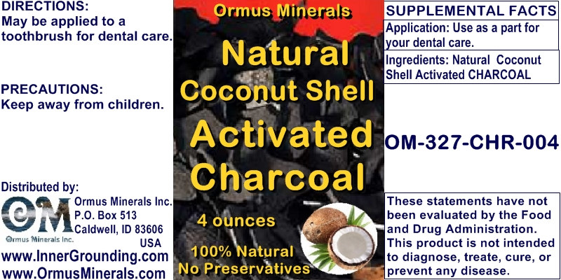 Ormus Minerals Natural Coconut Shell Activated Charcoal
