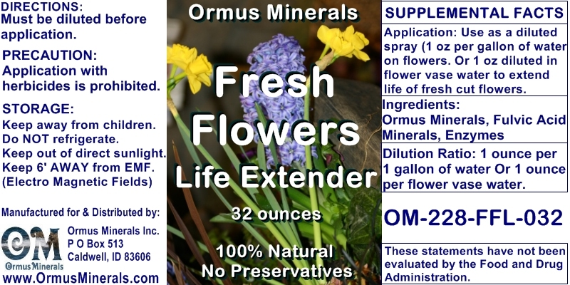 Ormus Minerals Fresh Flower Life Extender