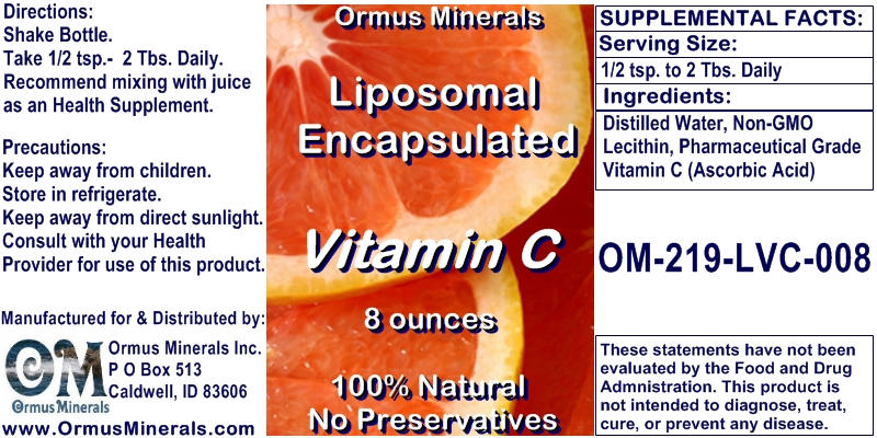 Ormus Minerals Liposomal Encapsulated Vitamin C