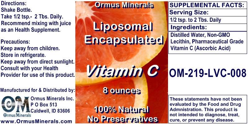 Ormus Minerals Liposomal Encapsulated Vitamin C