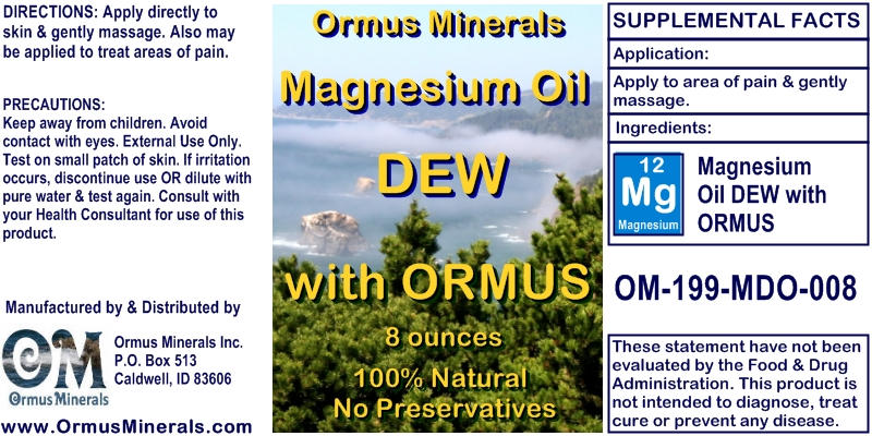 Ormus Minerals Magnesium Oil Dew with Ormus