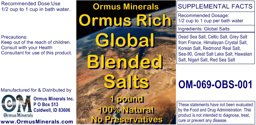 Ormus Minerals Ormus Rich Blended Salts