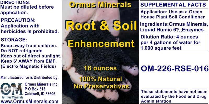 Ormus Minerals Root & Soil Enhancement