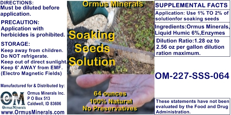 Ormuis Minerals Soaking Seeds Solution